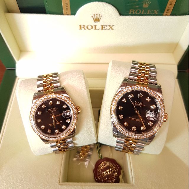 a4d6bbca35 Rolex Datejust Couple Watch, Luxury, Watches on Carousell