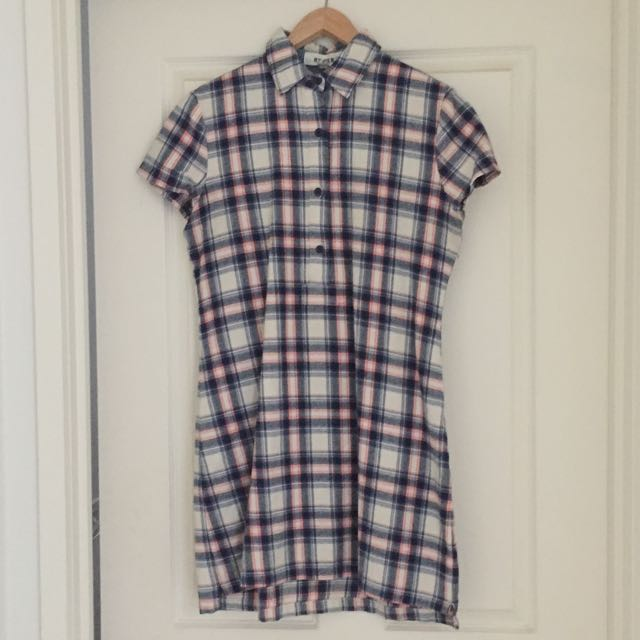 Ryder The Lable - Checked Shirt Dress