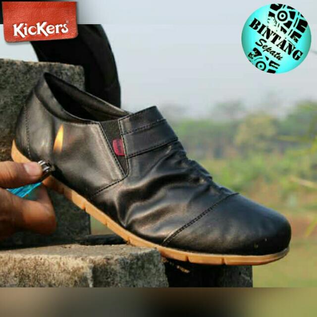 Sepatu Casual Keren Slop Kulit Pria Kickers Leather Slip On (KB0013 ... a099e16445