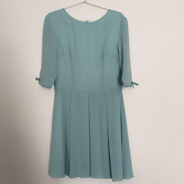 Shandy Aulia's Baby Blue Dress