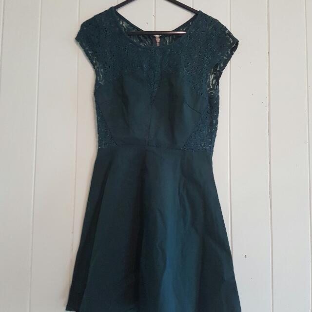 Size 8 Green Skater Dress