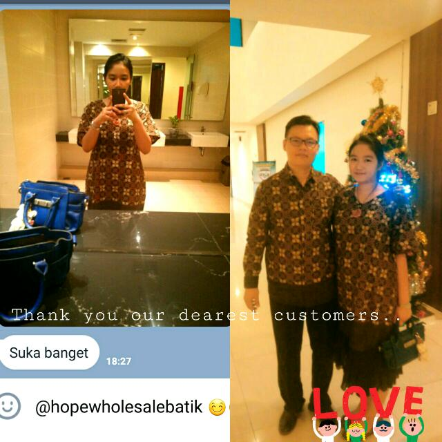 Testiiii.. Thank You Dear.. 😙 Matching Batik Couple Custom Size..