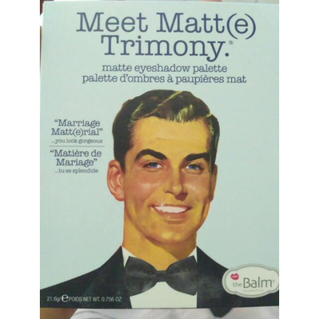 the balm eyeshadow meet matte trimony
