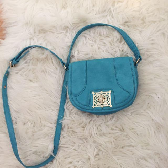 Turquoise Side Bag