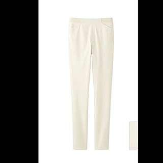 UNIQLO高腰極暖緊身褲白色S✨全新含運✨