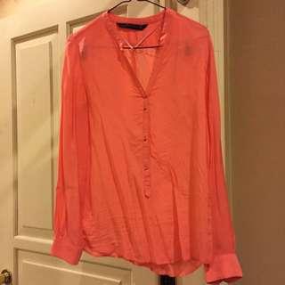 Zara Pink Button Up