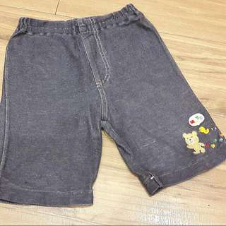 日本童裝~正品MIKI HOUSE牛仔棉褲~100公分