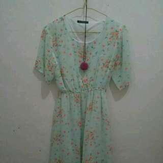 Midi Chiffon Dress