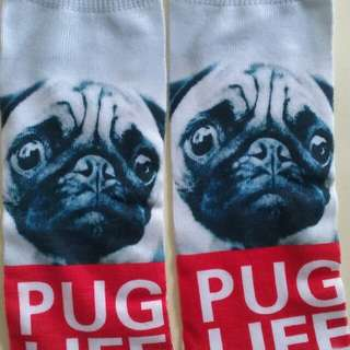 Womens Ankle Socks **PUG LIFE** Size 3-7 Adult