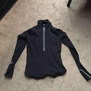 Lululemon Black 1/2 Zip Size 6