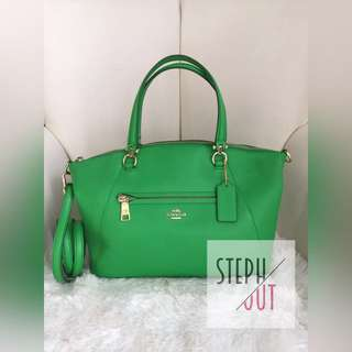 Coach praire green leather