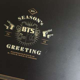 bts seasons greetings 2016 box ONLY