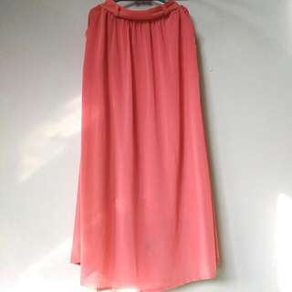 (REPRICE) Long Pink Skirt