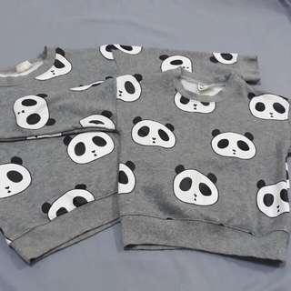 超好看的內舖棉熊貓裝,特價1件200元