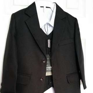 Boy's Inspire Kids Black 4-pc Suit Size 2
