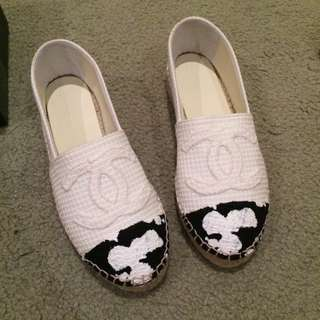 Chanel Espadrilles White (paint splatter)