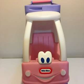 Little-tikes Pink And Purple Cozy Coupe And Shopping Cart