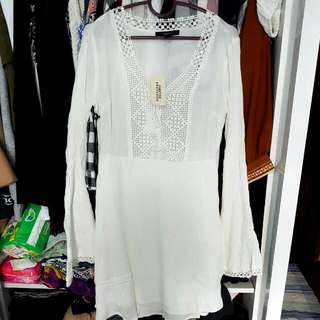 Crochet white dress from F21 * completely new with tag still attached