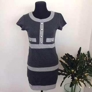 Grey Block Dress