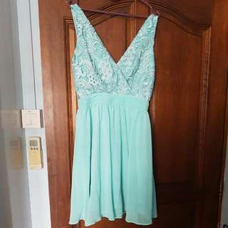 sky blue lace dress from UK *completely new