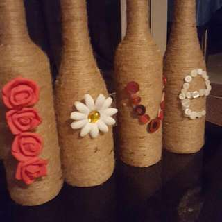 Twine Wrapped 'Love' Bottles