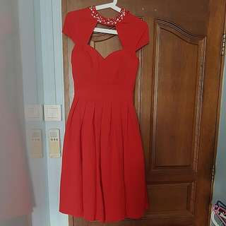 low back red prom dress from chichi london
