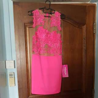 lace pink prom dress from USA*brand new