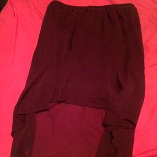 Chiffon Burgundy/purple Skirt