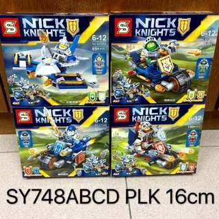 Nexo Knights Lego Inspired Nick Knights SY748 ABCD