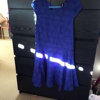 Royal Blue Casual Dress