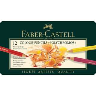 Faber Castell Colour Pencil Polychromos tin of 12 (110012)