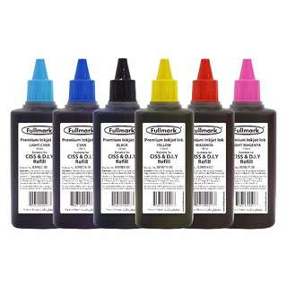 Fullmark Premium Inkjet Ink 3 Bottles Value Pack - 3 x 100ml - Compatible with Canon