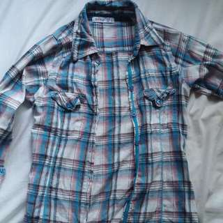 Size 6 Plaid Top