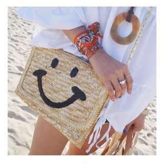 微笑竹編小包