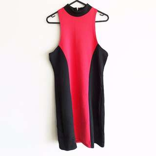 BNWT Size 12 Rosebullet Hot Pink and Black Bodycon Dress