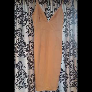 Camel Body-con Dress