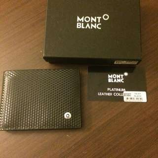 (Special Deal)Mont Blanc Authentic Leather Black Wallet(Actual Prize 3500)