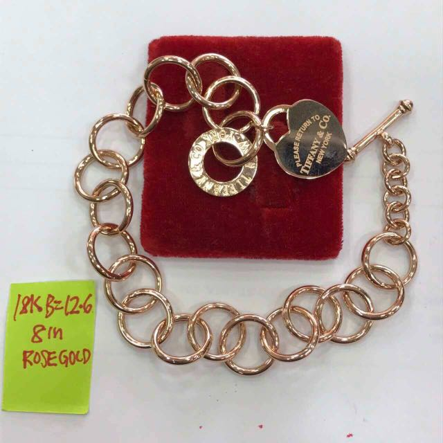 6c643c451 18K|750 Return To Tiffany & Co. Heart Tag Bracelet Genuine Rose Gold,  Women's Fashion, Jewellery on Carousell
