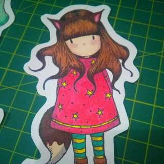 Hand-Colored Stickers