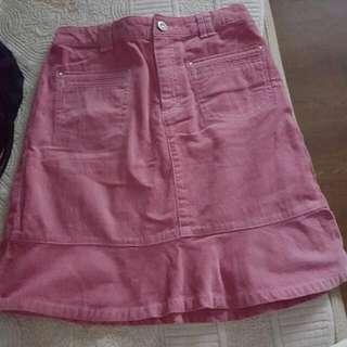 Bossini Pink Corduroy Skirt