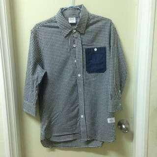 Navy條紋襯衫