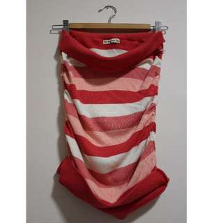 Forever 21 stripped tube-top