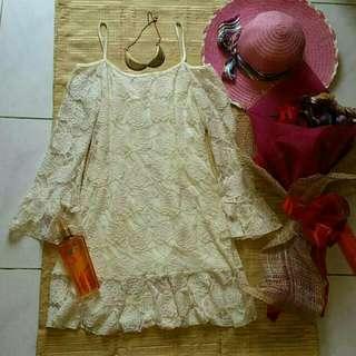Off Shoulder Bohemian Lace Dress! BNWOT