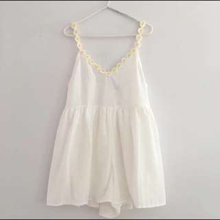 White Playsuit With Daisy Traps