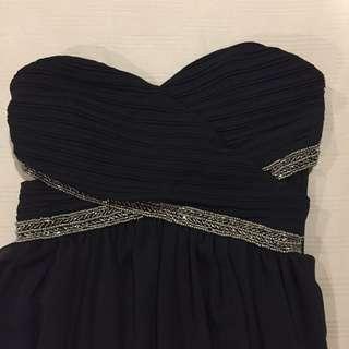 Black Bandeau Gown