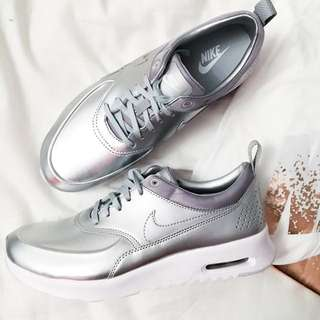 cfd6887de80 Nike Silver Air Max Thea Trainers UK5