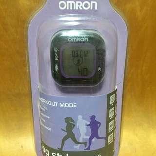 Omron Digital Pedometer Jog Style HJA-313 (Black-Violet)