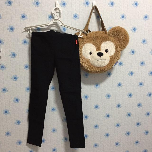 黑色彈性褲