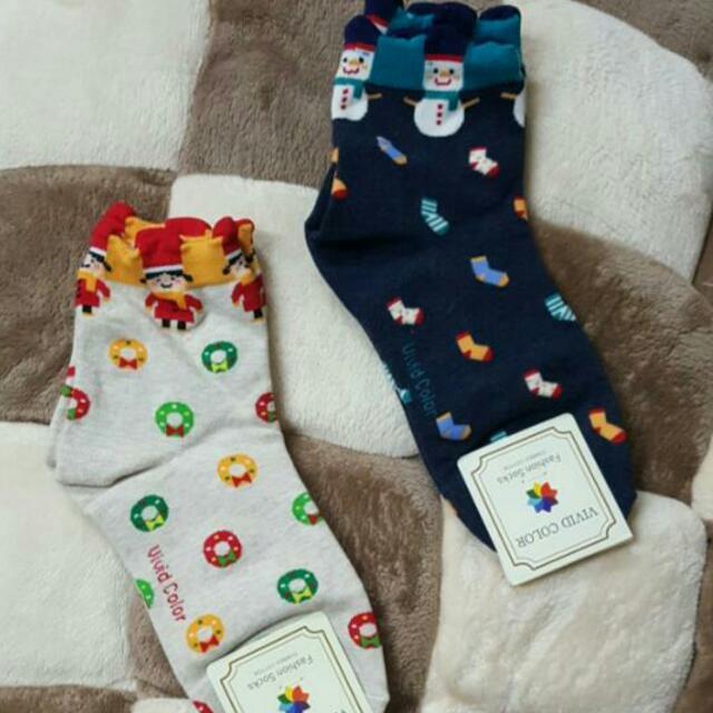 現貨🔔Vivid Color耶誕滿版襪🔔