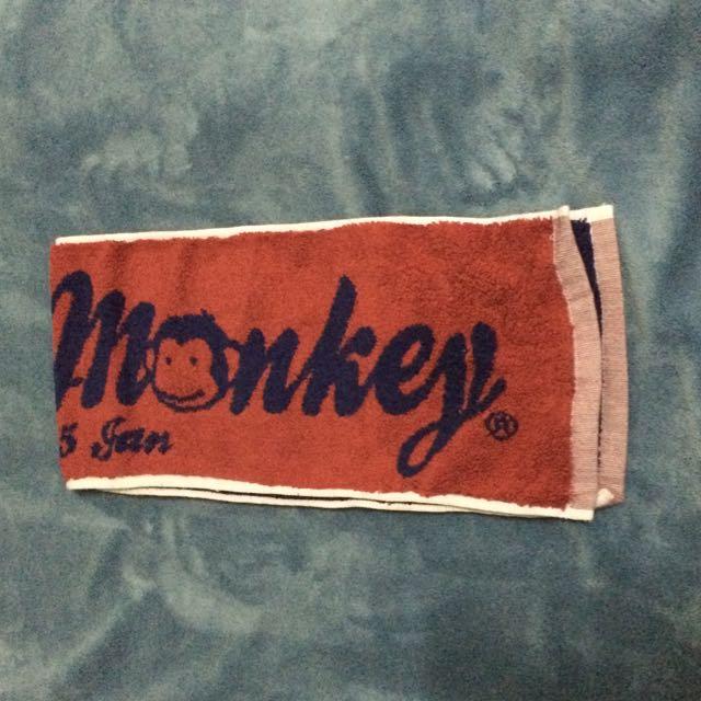 馬桶小猴運動毛巾